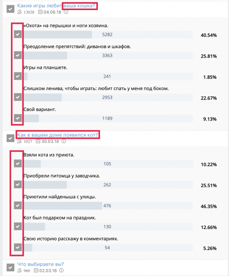 Как из конкретного поста с опросом ВКонтакте спарсить тех, кто принял участие в голосовании